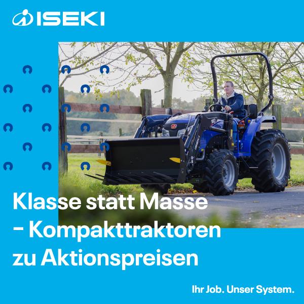 Iseki Traktoren bei LVF in Koblenz